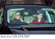 Купить «Members of the Royal family attend the Queen's Christmas lunch at Buckingham Palace Featuring: Sophie, Countess of Wessex, Lady Louise Windsor Where: London...», фото № 29219507, снято 20 декабря 2017 г. (c) age Fotostock / Фотобанк Лори