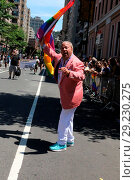 New York City Gay Pride 2017 march in New York City. Редакционное фото, фотограф IZZY / WENN.com / age Fotostock / Фотобанк Лори