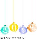 Купить «Happy New Year 2019», иллюстрация № 29230835 (c) Роман Сигаев / Фотобанк Лори