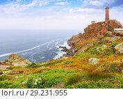 Купить «Ocean coast with lighthouse», фото № 29231955, снято 25 мая 2019 г. (c) Яков Филимонов / Фотобанк Лори