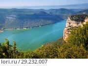 View of Sau reservoir from high point. Catalonia. Стоковое фото, фотограф Яков Филимонов / Фотобанк Лори