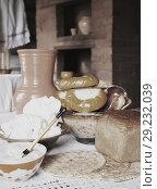 Купить «country home-made meal», фото № 29232039, снято 10 июля 2010 г. (c) Яков Филимонов / Фотобанк Лори