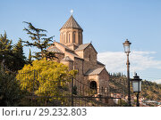 Купить «Tbilisi, Metekhi Church», фото № 29232803, снято 3 октября 2018 г. (c) Юлия Бабкина / Фотобанк Лори