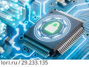 Купить «Electronic security concept. Data security. VPN», фото № 29233135, снято 4 февраля 2018 г. (c) Александр Якимов / Фотобанк Лори