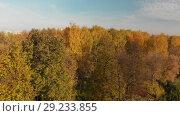 Купить «flight up autumn Izmailovo park Moscow, Russia», видеоролик № 29233855, снято 18 июля 2019 г. (c) Володина Ольга / Фотобанк Лори