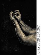Close-up of a mans arm. Low key shoot. Стоковое фото, фотограф Маргарита Бородина / Фотобанк Лори
