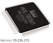 Купить «Integrated circuit information micro chip and new technologies on isolated.», иллюстрация № 29236215 (c) Gennadiy Poznyakov / Фотобанк Лори
