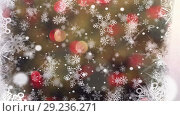 Купить «Snowflakes and lights», видеоролик № 29236271, снято 25 сентября 2018 г. (c) Wavebreak Media / Фотобанк Лори