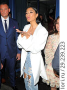 Купить «Nicole Scherzinger beams from ear to ear as she celebrates her 40th Birthday at Bagatelle Mayfair Featuring: Nicole Scherzinger Where: London, United Kingdom When: 29 Jun 2018 Credit: WENN.com», фото № 29239223, снято 29 июня 2018 г. (c) age Fotostock / Фотобанк Лори