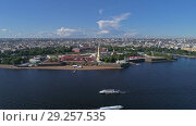 Купить «Flight around Peter and Paul Fortress, Russia», видеоролик № 29257535, снято 25 сентября 2018 г. (c) Михаил Коханчиков / Фотобанк Лори