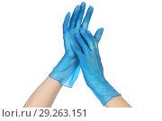 Резиновые перчатки. Стоковое фото, фотограф Целоусов Дмитрий Геннадьевич / Фотобанк Лори