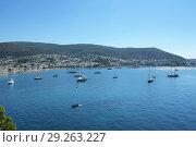 Купить «Морской пейзаж с яхтами. Эгейское море, Бодрум, Турция», фото № 29263227, снято 5 сентября 2017 г. (c) Ирина Носова / Фотобанк Лори