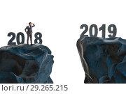 Купить «Businessman anticipating year of 2019», фото № 29265215, снято 26 мая 2019 г. (c) Elnur / Фотобанк Лори