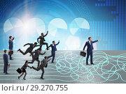 Купить «Business people in uncertainty concept», фото № 29270755, снято 20 июня 2019 г. (c) Elnur / Фотобанк Лори
