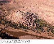 Купить «Aerial view on Ait Ben Haddou in Morocco», фото № 29274979, снято 11 февраля 2018 г. (c) Михаил Коханчиков / Фотобанк Лори