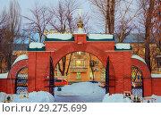 Купить «The Holy Resurrection Monastery is a functioning monastery of the Russian Orthodox Church.», фото № 29275699, снято 10 февраля 2016 г. (c) Акиньшин Владимир / Фотобанк Лори