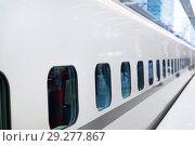 Купить «train car on railway station», фото № 29277867, снято 7 февраля 2018 г. (c) Syda Productions / Фотобанк Лори