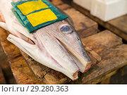 Купить «fresh fish or seafood at japanese street market», фото № 29280363, снято 10 февраля 2018 г. (c) Syda Productions / Фотобанк Лори