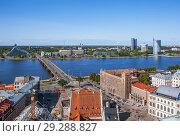 Купить «Вид на Ригу с башни церкви святого Петра. Латвия», фото № 29288827, снято 22 августа 2018 г. (c) Сергей Афанасьев / Фотобанк Лори