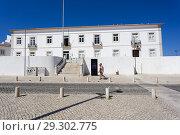 Купить «Architecture of Lagos, Infante Dom Henrique square, Lagos, Algarve, Portugal.», фото № 29302775, снято 25 сентября 2018 г. (c) age Fotostock / Фотобанк Лори