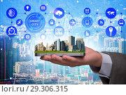Купить «Smart city in innovation concept», фото № 29306315, снято 17 января 2020 г. (c) Elnur / Фотобанк Лори