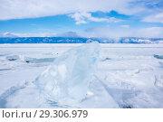 Купить «Ice of Lake Baikal», фото № 29306979, снято 4 марта 2017 г. (c) Юлия Белоусова / Фотобанк Лори