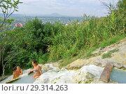 Купить «Каскад купален в скальной породе склона горы Машук. Пятигорск», фото № 29314263, снято 12 августа 2012 г. (c) Oles Kolodyazhnyy / Фотобанк Лори