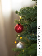 Купить «toys on the Christmas tree», фото № 29315519, снято 14 октября 2018 г. (c) Типляшина Евгения / Фотобанк Лори