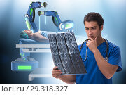 Купить «Telehealth concept with doctor doing remote check-up», фото № 29318327, снято 26 марта 2019 г. (c) Elnur / Фотобанк Лори