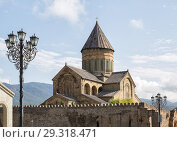 Купить «Svetitskhoveli Cathedral (UNESCO World Heritage site), Mtskheta, Georgia», фото № 29318471, снято 23 сентября 2018 г. (c) Юлия Бабкина / Фотобанк Лори
