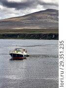 Купить «View of Jura island, Seascape, Islay, Inner Hebrides, Argyll, Scotland, UK.», фото № 29351235, снято 22 июля 2019 г. (c) age Fotostock / Фотобанк Лори