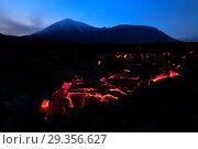 Купить «Tolbachik volcano, Kamchatka Peninsula, Russia», фото № 29356627, снято 15 ноября 2018 г. (c) age Fotostock / Фотобанк Лори