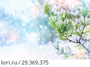 Купить «Новогодний фон», фото № 29369375, снято 29 октября 2018 г. (c) Икан Леонид / Фотобанк Лори
