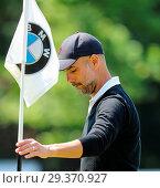 Купить «Sports stars and celebrities join professional golfers at the BMW PGA Championship pro-am at Wentworth Golf Club Featuring: Pep Guardiola Where: Wentworth...», фото № 29370927, снято 23 мая 2018 г. (c) age Fotostock / Фотобанк Лори