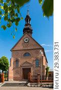 Купить «Old landmark Sw. Marcina Church is located in Poland», фото № 29383731, снято 11 мая 2018 г. (c) Яков Филимонов / Фотобанк Лори