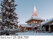 Santa Claus village in Finland (2017 год). Стоковое фото, фотограф Liseykina / Фотобанк Лори