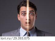 Купить «Concept of face recognition software and hardware», фото № 29393075, снято 12 ноября 2018 г. (c) Elnur / Фотобанк Лори
