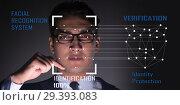 Купить «Concept of face recognition software and hardware», фото № 29393083, снято 12 ноября 2018 г. (c) Elnur / Фотобанк Лори