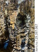 Купить «Panoramic view of chamber in Grotte des Demoiselles», фото № 29397067, снято 2 декабря 2017 г. (c) Яков Филимонов / Фотобанк Лори