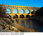 Купить «Pont du Gard in France», фото № 29397091, снято 8 декабря 2017 г. (c) Яков Филимонов / Фотобанк Лори