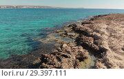 Купить «Mediterranean coast of Cyprus, fragment», видеоролик № 29397111, снято 17 июля 2019 г. (c) Володина Ольга / Фотобанк Лори