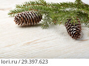 Купить «New Year and Christmas background», фото № 29397623, снято 4 ноября 2018 г. (c) Мельников Дмитрий / Фотобанк Лори