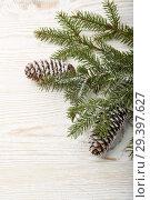 Купить «New Year and Christmas background», фото № 29397627, снято 4 ноября 2018 г. (c) Мельников Дмитрий / Фотобанк Лори