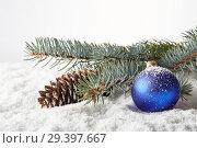 Купить «New Year and Christmas background», фото № 29397667, снято 4 ноября 2018 г. (c) Мельников Дмитрий / Фотобанк Лори