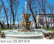 Купить «Коронный фонтан в Летнем саду. Санкт-Петербург», эксклюзивное фото № 29397819, снято 9 мая 2018 г. (c) Александр Щепин / Фотобанк Лори