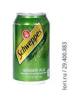 Купить «Schweppes Ginger Ale», фото № 29400883, снято 7 ноября 2018 г. (c) Art Konovalov / Фотобанк Лори
