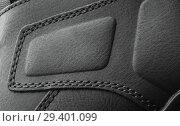 Купить «leather boots stitched with thread close up», фото № 29401099, снято 9 ноября 2018 г. (c) Restyler Viacheslav / Фотобанк Лори