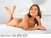 Купить «Woman lying poses», фото № 29405627, снято 23 февраля 2019 г. (c) Яков Филимонов / Фотобанк Лори
