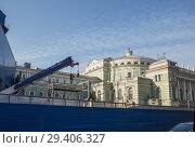 Купить «Строительство новой станции метро Театральная, Санкт-Петербург», фото № 29406327, снято 16 октября 2018 г. (c) Юлия Бабкина / Фотобанк Лори