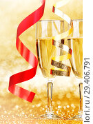 Купить «Champagne and ribbons», фото № 29406791, снято 28 сентября 2013 г. (c) Иван Михайлов / Фотобанк Лори